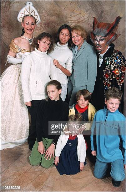 Katia Tchenko and her daughter Eleonore with friends in France on November 10 2001