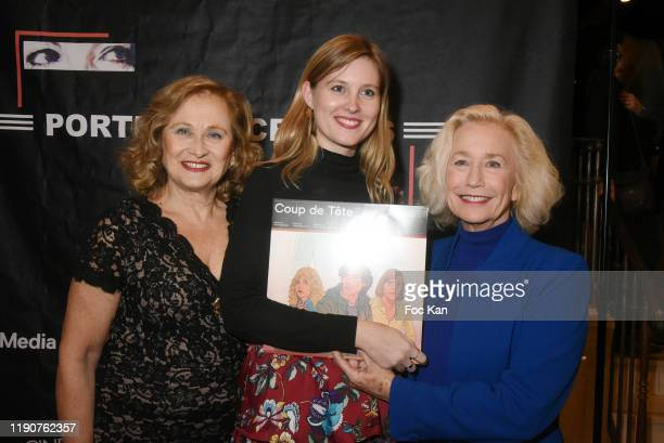 Katia Tchenko Emma Merian and actress Brigitte Fossey attend the Portraits Croisés Photo Exhibition Preview by Paris Match at Cinema Mac Mahon on...