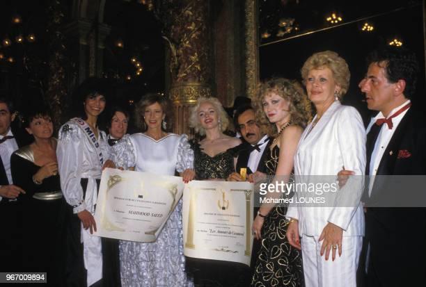 Katia Tchenko et Jacqueline Huet lors de la soirée 'Les Amours de Casanova' le 24 avril 1985 à Paris France