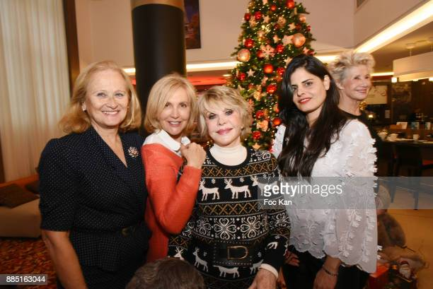 Katia Tchenko TV presenters Fabienne Amiach Sophie Darel painter Lee Michel and Daniele Gilbert attend the launch of Nelson Montfort's new book...