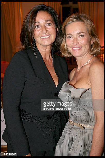 Katia Toledano and Fabienne Bazire at Gala Evening For Cardiovascular Research Foundation Institut De France