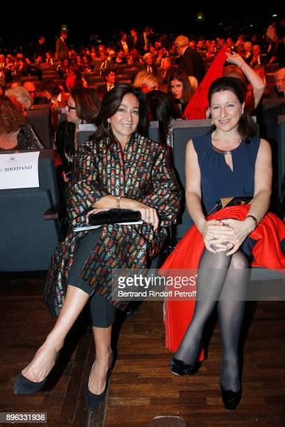 Katia Toledano and French Health Minister Agnes Buzyn attend the Gala evening of the PasteurWeizmann Council in Tribute to Simone Veil at Salle...