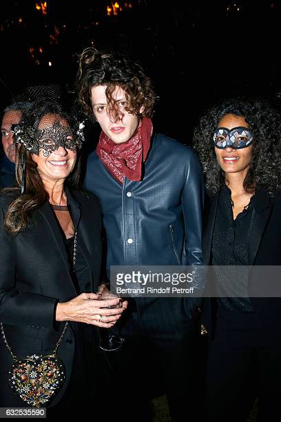 Katia Toledano Cesar Chouraqui and Isabel Sulpicy attend the Christian Dior Haute Couture Spring Summer 2017 Bal Masque as part of Paris Fashion Week...