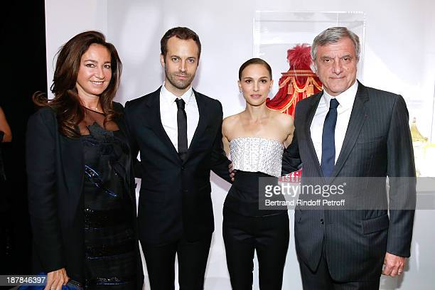 Katia Toledano, Choreographer Benjamin Millepied, Actress Natalie Portman and CEO Dior Sidney Toledano attend the 'Esprit Dior, Miss Dior' Exhibition...
