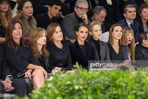 Katia Toledano Isabelle Huppert Sigourney Weaver Jessica Alba Leelee Sobieski Carole Bouquet and victoire de Castelane attend the Christian Dior...