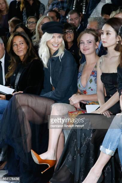 Katia Toledano Karlie Kloss Britt Robertson and Li Ying Zhao attend the Christian Dior show as part of the Paris Fashion Week Womenswear...