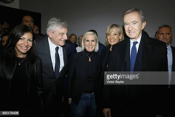 Katia Toledano Sidney Toledano Maria Grazia Chiuri Helene Mercier and Bernard Arnault attend the Christian Dior Haute Couture Spring Summer 2017 show...
