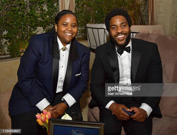 Katia Washington and Malcolm Washington attend the 47th AFI Life Achievement Award Honoring Denzel Washington After Party at Sunset Tower Hotel on...