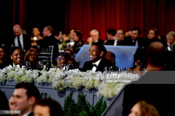 Katia Washington, Spike Lee, and Denzel Washington attend the 47th AFI Life Achievement Award honoring Denzel Washington at Dolby Theatre on June 06,...