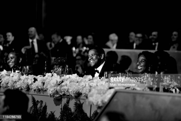 Katia Washington Spike Lee Denzel Washington and Pauletta Washington attend the 47th AFI Life Achievement Award honoring Denzel Washington at Dolby...