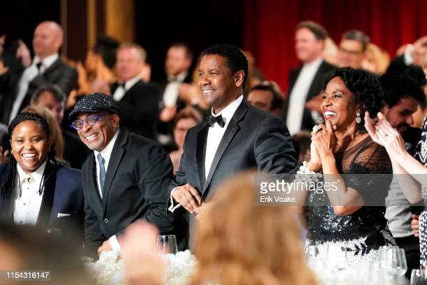 Katia Washington, Spike Lee, Denzel Washington, and Pauletta Washington during the 47th AFI Life Achievement Award honoring Denzel Washington at...
