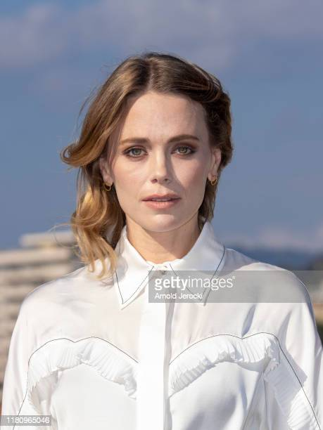 Katia Winter attends ' Agent Hamilton ' photocall during day one of the MIPCOM 2019 on October 14, 2019 in Cannes, France.