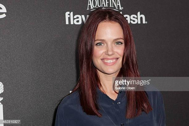 Katia Winter attends The Hollywood Foreign Press Association And InStyle Celebrates The 2014 Golden Globe Awards Season at Fig & Olive Melrose Place...