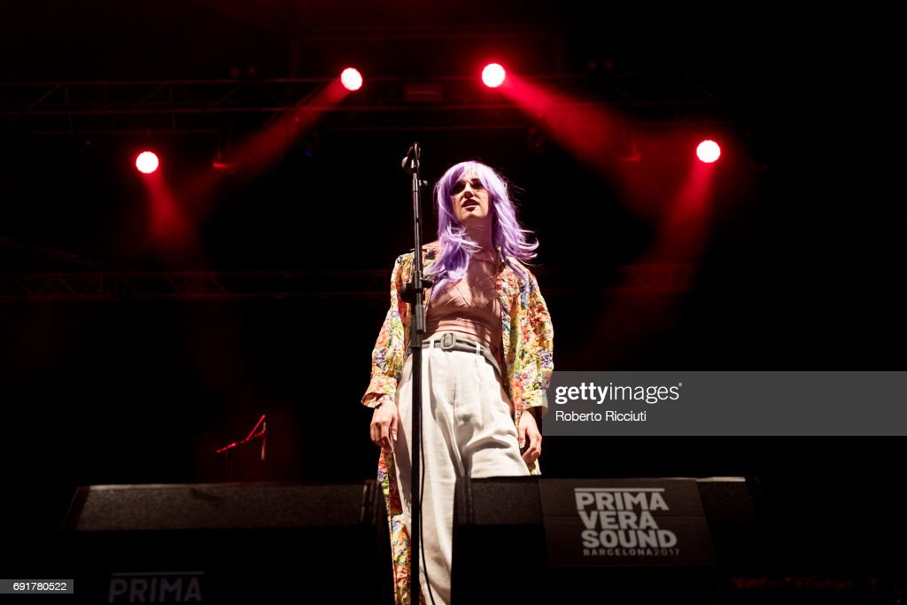 Katie Alice Greer of American punk band Priests performs on stage during Primavera Sound Festival 2017 Day 3 at Parc del Forum on June 2, 2017 in Barcelona, Spain.
