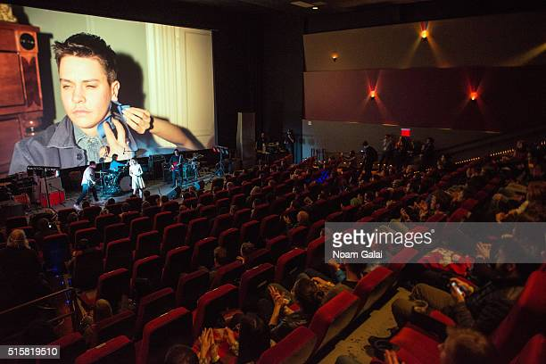 Katie Alice Greer of 'Priests' performs during the Primal Screams concert at AMC Empire 25 theater on March 15 2016 in New York City