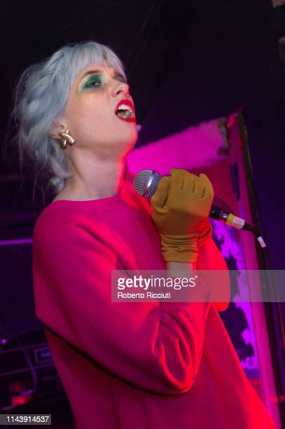 Katie Alice Greer of Priests performs on stage at The Hug And Pint on May 14 2019 in Glasgow Scotland