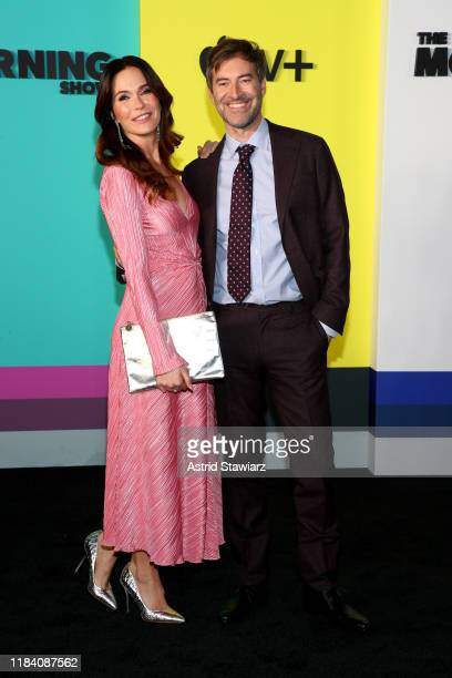 Katie Aselton and Director Mark Duplass attend Apple TV's The Morning Show World Premiere at David Geffen Hall on October 28 2019 in New York City