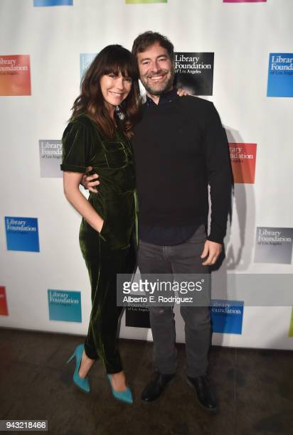 Katie Aselton and Mark Duplass attend the 10th Annual Young Literati Toast at Hudson Loft on April 7 2018 in Los Angeles California