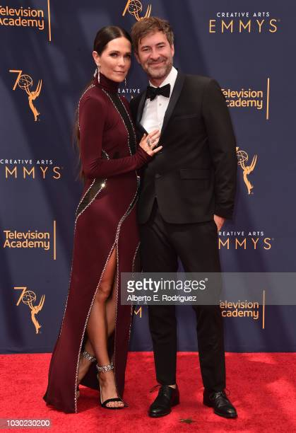 Katie Aselton and Mark Duplass attend the 2018 Creative Arts Emmys Day 2 at Microsoft Theater on September 9 2018 in Los Angeles California