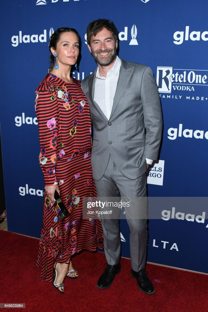 Katie Aselton (L) and Mark Duplass attend the 29th Annual GLAAD Media Awards at The Beverly Hilton Hotel on April 12, 2018 in Beverly Hills, California.