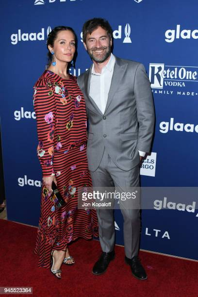 Katie Aselton and Mark Duplass attend the 29th Annual GLAAD Media Awards at The Beverly Hilton Hotel on April 12 2018 in Beverly Hills California