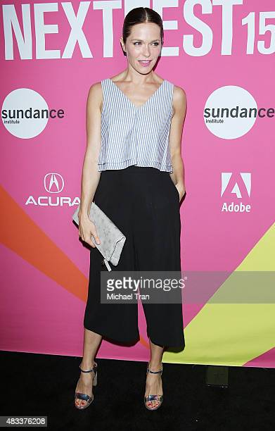 Katie Aselton arrives at the Los Angeles premiere of 'Mistress America' during the 2015 Sundance NEXT FEST held at Ace Hotel on August 7 2015 in Los...