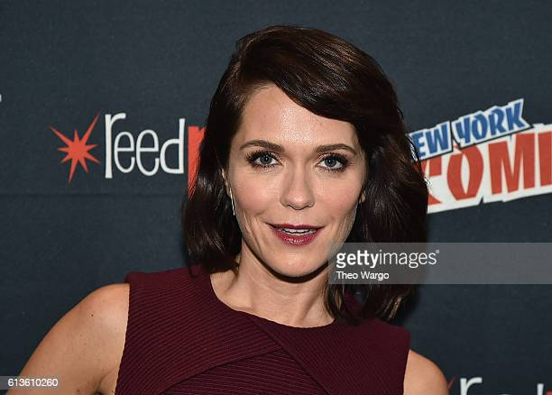 """Katie Aselton attends the FX Network's """"Legion"""" Press Room during 2016 New York Comic Con at The Javits Center on October 9, 2016 in New York City."""