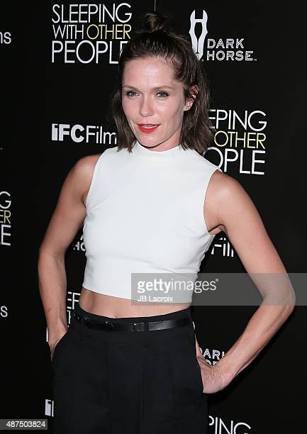 Katie Aselton attends the premiere of IFC Films' 'Sleeping with other people' held at ArcLight Cinemas on September 9 2015 in Hollywood California