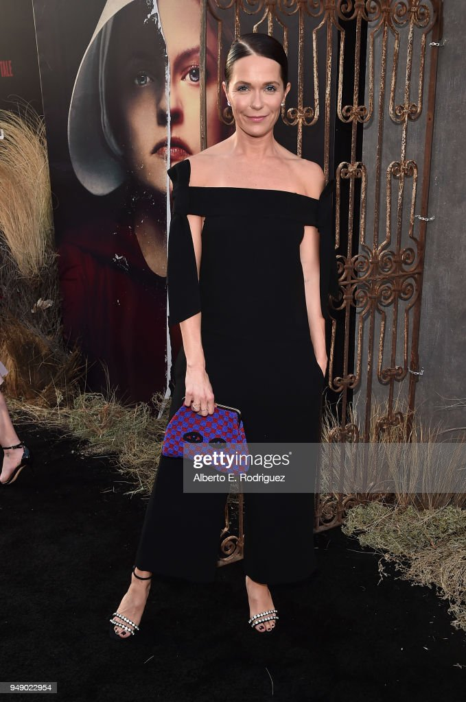 Katie Aselton attends the season 2 premiere of Hulu's 'The Handmaid's Tale' at the TCL Chinese Theatre on April 19, 2018 in Hollywood, California.