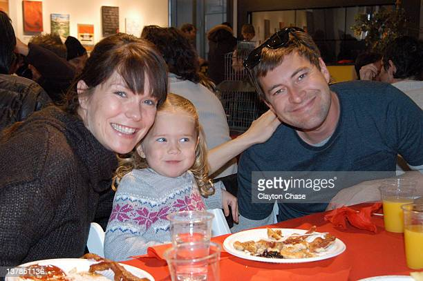 Katie Aselton Ora Duplass and Mark Duplass attend the Programmer's Pancake Breakfast during the 2012 Sundance Film Festival on January 28 2012 in...