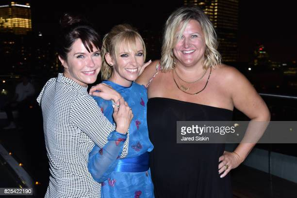 Katie Aselton Toni Collette and Bridget Everett attend Momentum Pictures with The Cinema Society SVEDKA host the after party for Fun Mom Dinner at...