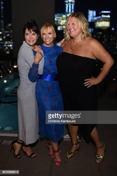 "Katie Aselton, Toni Collette and Bridget Everett attend the screening Of ""Fun Mom Dinner"" at Landmark Sunshine Cinema on August 1, 2017 in New York..."
