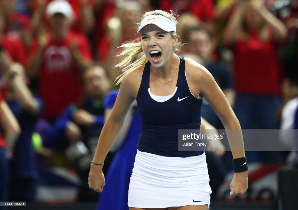 Great Britain v Kazakhstan - Fed Cup: Day 2 : News Photo