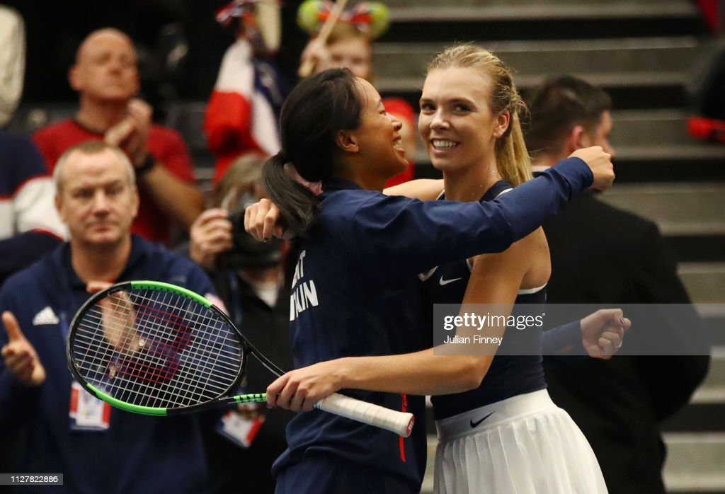 Fed Cup Europe and Africa Zone Group I - Day One : ニュース写真
