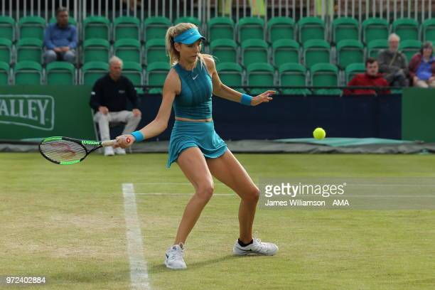 Katie Boulter of Great Britian during Day 4 of the Nature Valley open at Nottingham Tennis Centre on June 12 2018 in Nottingham England