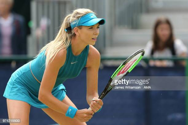 Katie Boulter of Great Britian during Day Six of the Nature Valley open at Nottingham Tennis Centre on June 14 2018 in Nottingham England
