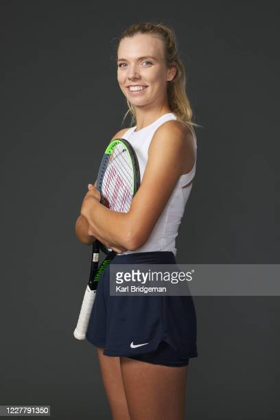 Katie Boulter poses for a portrait prior to the St James's Place Battle of the Brits Team Tennis at National Tennis Centre on July 26 2020 in London...