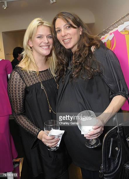 Katie Brennan and Christine Nichols attend the celebration of Lisa Perry's Spring 2008 collection 'Pop' at Decades on February 12 2008 in Los Angeles...