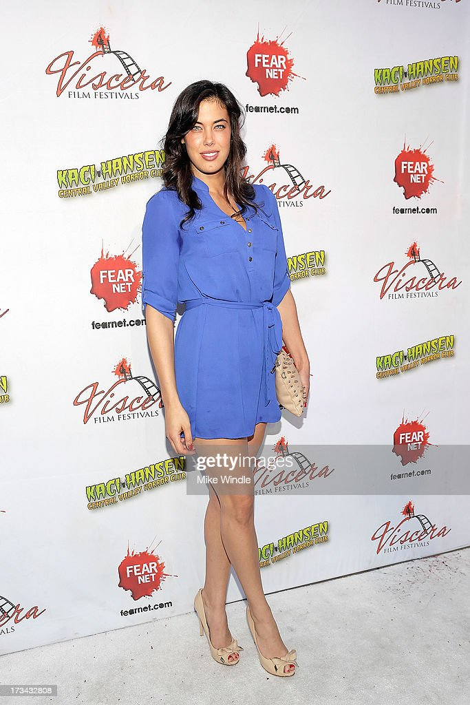 Katie Caprio arrives at the 2013 Viscera Film Festival Red Carpet Event at American Cinematheque's Egyptian Theatre on July 13, 2013 in Hollywood, California.