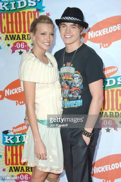 Katie Cassidy and Jesse McCartney during Nickelodeon's 19th Annual Kids' Choice Awards Arrivals at Pauley Pavillion in West wood California United...