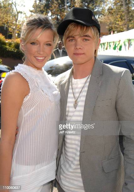 Katie Cassidy and Jesse McCartney during Nickelodeon's 20th Annual Kids' Choice Awards Orange Carpet at Pauley Pavilion UCLA in Westwood California...