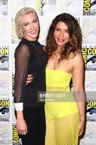 Katie Cassidy and Juliana Harkavy attend Arrow press line during 2019 ComicCon International on July 20 2019 in San Diego California