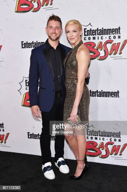 Katie Cassidy and Matthew Rodgers at Entertainment Weekly's annual ComicCon party in celebration of ComicCon 2017 at Float at Hard Rock Hotel San...