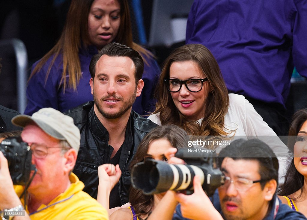 Katie Cassidy attends a basketball game between the Toronto Raptors and Los Angeles Lakers at Staples Center on March 8, 2013 in Los Angeles, California.
