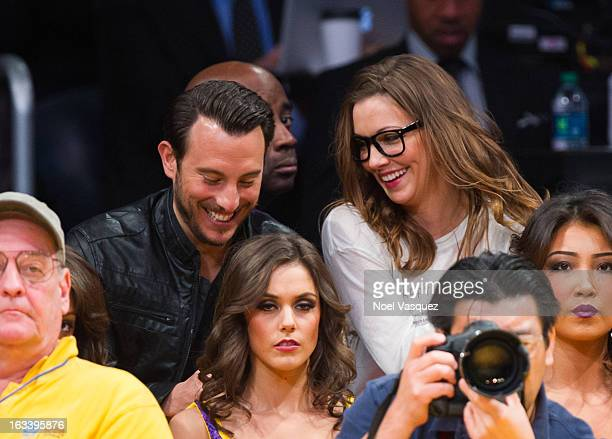 Katie Cassidy attends a basketball game between the Toronto Raptors and Los Angeles Lakers at Staples Center on March 8 2013 in Los Angeles California
