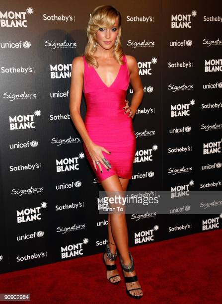 Katie Cassidy attends Montblanc Celebrity Auction And Dinner Benefitting UNICEF at Four Seasons Hotel on September 17 2009 in Beverly Hills California