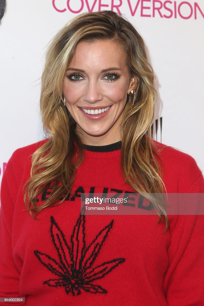 Katie Cassidy attends the Premiere Of Sony Pictures Home Entertainment And Off The Dock's 'Cover Versions' held at Landmark Regent on April 9, 2018 in Los Angeles, California.
