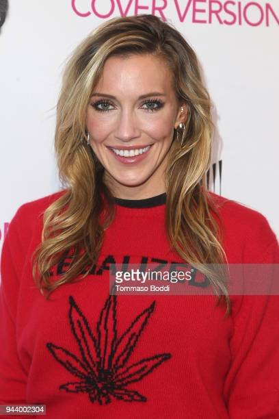 Katie Cassidy attends the Premiere Of Sony Pictures Home Entertainment And Off The Dock's Cover Versions held at Landmark Regent on April 9 2018 in...