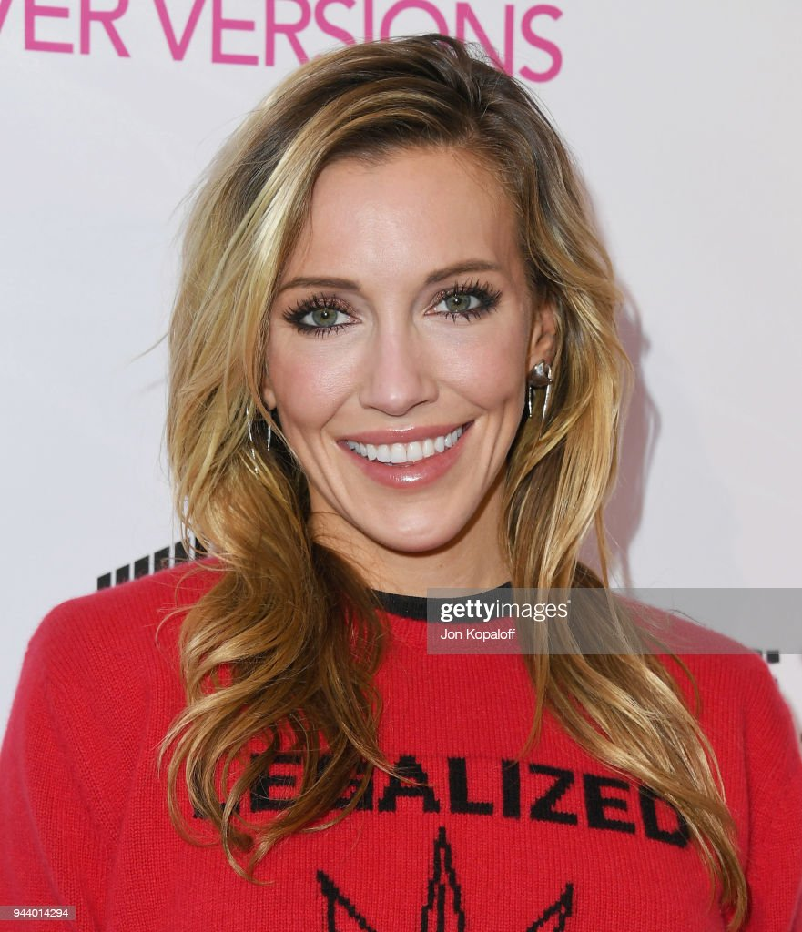 Katie Cassidy attends the Premiere Of Sony Pictures Home Entertainment And Off The Dock's 'Cover Versions' at Landmark Regent on April 9, 2018 in Los Angeles, California.