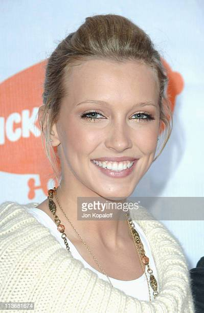 Katie Cassidy during Nickelodeon's 19th Annual Kids' Choice Awards Arrivals at Pauley Pavillion in West wood California United States